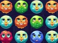 Флеш игра Счастливые планеты: Три в ряд