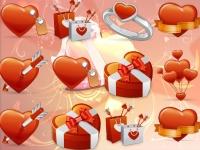 Флеш игра Сердечки на День Святого Валентина