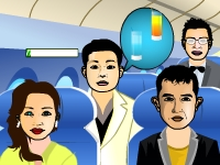 Флеш игра Сервис в самолете