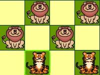 Флеш игра Шашки: Тигры против Львов