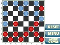 Флеш игра Шашки на белых клетках