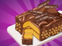 Флеш игра Шоколадное пирожное с арахисовым маслом