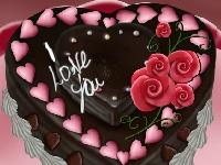 Флеш игра Шоколадный торт на день Святого Валентина