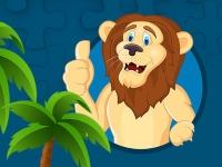 Флеш игра Сильные львы: Пазл