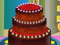 Флеш игра Симпатичный шоколадный торт