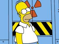 Флеш игра Симпсоны: Сумасшедший Гомер