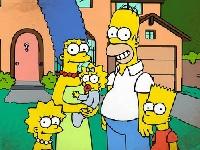 Флеш игра Симпсоны: пазл