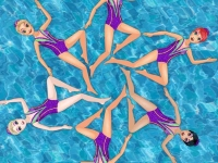 Флеш игра Синхронное плавание принцесс