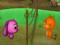 Флеш игра Сиси и Тото играют в волейбол