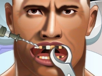 Флеш игра Скала Дуэйн Джонсон у стоматолога