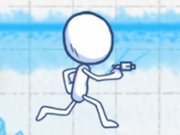 Флеш игра Скетчмен с пушкой