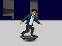 Флеш игра Скейтер на крышах
