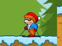 Флеш игра Скользкие лыжи