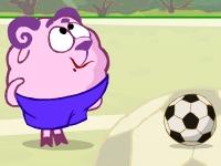 Флеш игра Смешарики: Ленивый футбол