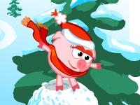 Флеш игра Смешарики: Снежная горка