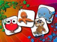 Флеш игра Смешные зверушки: Найди пару