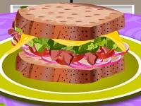 Флеш игра Собери бутерброд с индейкой