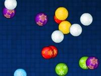 Флеш игра Собери рождественские шарики