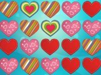 Флеш игра Собери три сердца в ряд