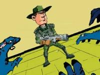 Флеш игра Солдат против зомби