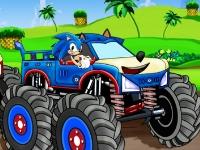 Флеш игра Соник: Война грузовиков