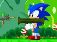 Флеш игра Соник с базукой в мире Марио