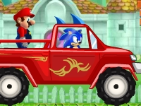 Флеш игра Соник спасает Марио