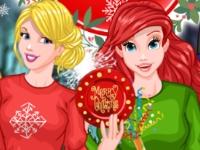 Флеш игра Соперничество принцесс на Новый Год