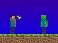 Флеш игра Создание сцены в Майнкрафте