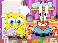 Флеш игра Спанч Боб филонит на кухне