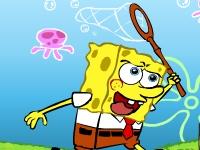 Флеш игра Спанч Боб ловит медуз