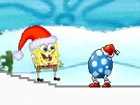 Флеш игра Спанч Боб спасает Гэри на Рождество