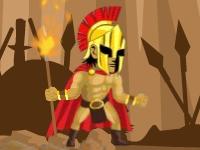Флеш игра Спартанец с горящим копьем