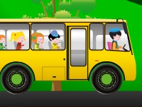 Флеш игра Спаси школьный автобус