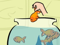 Флеш игра Спаси золотых рыбок