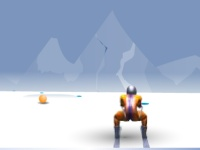 Флеш игра Спуск со склона на лыжах