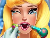 Флеш игра Спящая красавица у стоматолога
