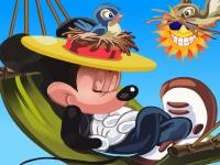 Флеш игра Спящий Микки Маус: Пазл