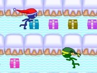 Флеш игра Стикмен-Санта собирает подарки