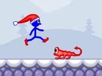 Флеш игра Стикмен-Санта в беде