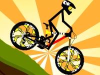 Флеш игра Стикмен гонщик на велосипеде