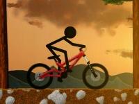 Флеш игра Стикмен на велосипеде за городом