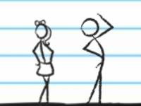 Флеш игра Стикмен в школьной тетрадке