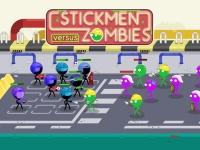 Флеш игра Стикмены против зомби