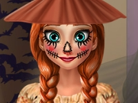 Флеш игра Страшный наряд для Анны на Хэллоуин
