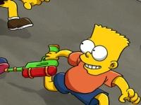 Флеш игра Стрельба Барта Симпсона