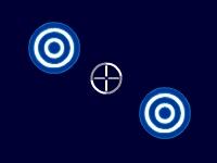 Флеш игра Стрельба по голубым мишеням