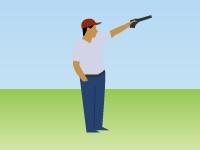 Флеш игра Стрельба по шарикам из пистолета