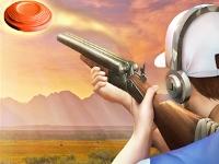 Флеш игра Стрельба по тарелочкам в пустыне
