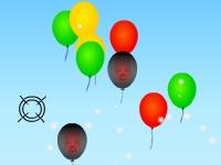 Флеш игра Стрельба снежками по воздушным шарикам